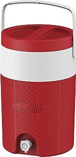 مبرد مياه كوزموبلاست معزول بلاستيكي مقاوم للحرارة 2 جالون - أحمر، 9 لتر