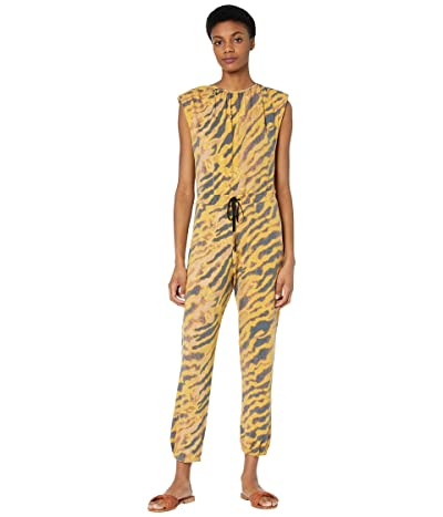WAYF Hayden Sleeveless Knit Jumpsuit (Brown Tiger) Women
