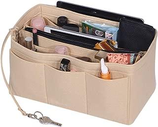 Felt Purse Organizer Insert Handbag and Tote Shaper with Zipper Bag in Bag Fit Speedy Neverfull Longchamp Tote,3 Sizes