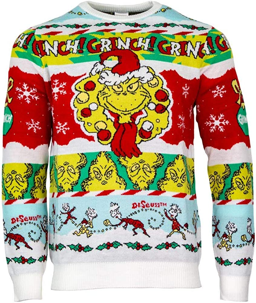 Numskull Unisex Official The Long-awaited Grinch Ch Grinchmas' 'Merry Knitted shipfree