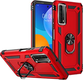 FTRONGRT Case for Samsung Galaxy F62, Rugged and shockproof,with mobile phone holder, Cover for Samsung Galaxy F62-Red