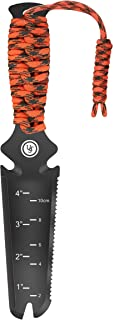 UST ParaShovel PRO with 4 Inch Trowel, Line Cutter, Tent Peg Pry Tool, ParaTinder, Fire Starter and Emergency Whistle for Hiking, Camping and Survival