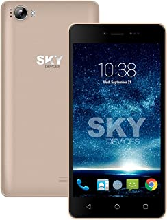 SKY Devices Fuego 5. 0+ - Unlocked Global Smartphone with a 5 Inch Screen and 4GB of ROM 5MP+1. 3MP Cameras - Gold