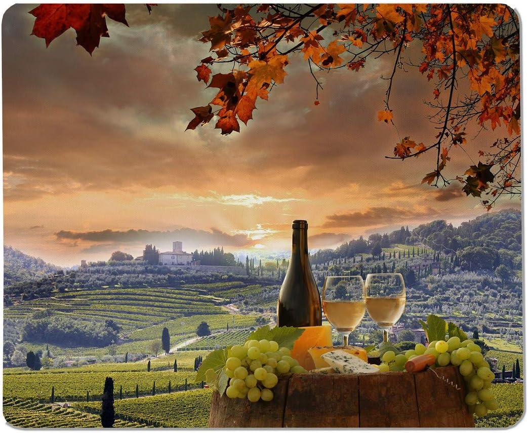 Yeuss Ranking free TOP8 Manor Rectangular Non-Slip Mousepad Barrel with White Wine