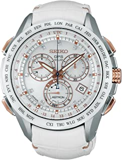 Astron GPS Limited Edition Solar Chronograph Sse021j1 White