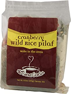 The Secret Garden, Wild Rice Cranberry Pilaf; All Natural, VEGAN, Bake-in-the-Oven, Minnesota Wild Rice (1 PACK)