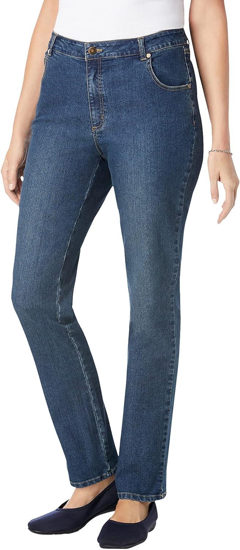 Woman Within Women's Plus Size Petite Straight Leg Stretch Jean