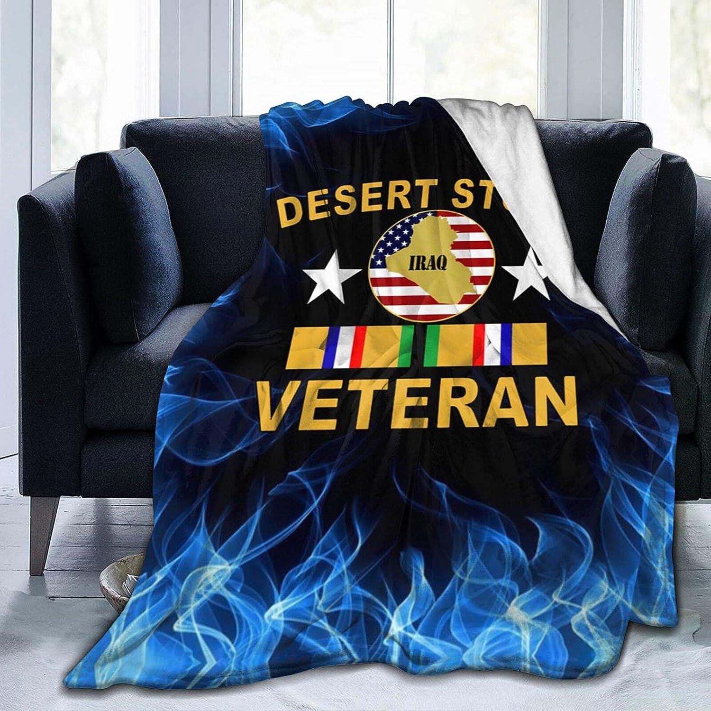 Desert Shield Storm Alternative dealer Veteran Printed with Flannel Blanket Manufacturer direct delivery
