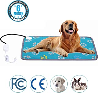 MAZORT Pet Heating Pad Cats and Dogs Safety Electric Heated Pet Bed Warming Mat with 2 Adjustable Temperature Chew Resistant Cord for Small Large Pet