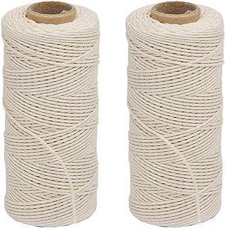 Vivifying cordón de algodón, 2 x 328 pies apto para