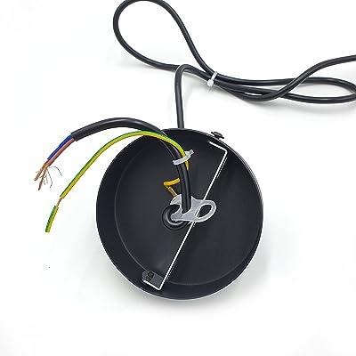 Suspension noire, 1 mètre pour sphères APOLUX SPH25X. Culot E27