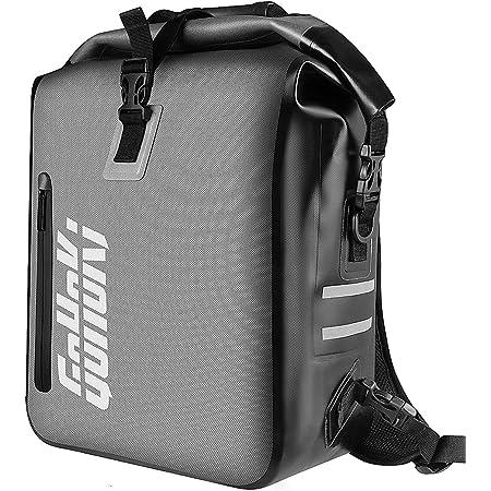 GoHoKi 3in1 Fahrradtasche für Hinten Gepäckträger, Fahrrad Rucksack Gepäckträgertasche Umhängetasche - Kombi Fahrrad Tasche - 100% wasserdicht und reflektierend Fahrradtaschen mit Laptoptasche