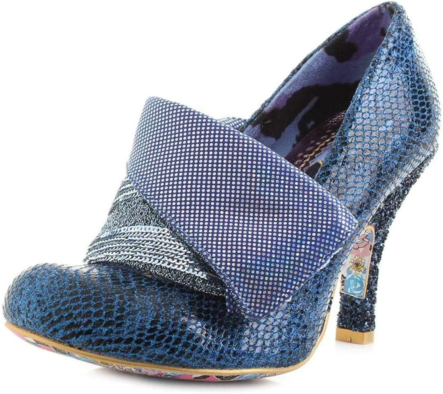 Irregular Choice Flick Flack Blau Multi Damen Closed Toe Heels Schuhe