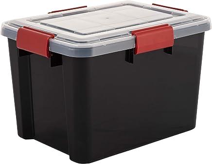 Iris Ohyama PJC-300 Caja de Almacenamiento para Ocio Creativo 24 Compartimentos-Project Case Amarillo Transparente 33 x 31 x 7.7 cm