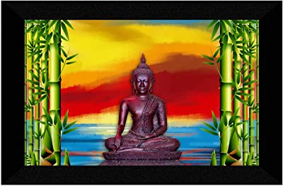 SAF Buddha modern art Painting UV Textured Home Decorative Gift Item with Synthetic Frame
