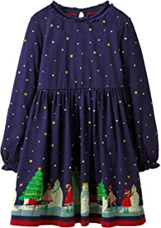 Toddler Girl Christmas Clothes Cotton Dresses,Cute Long Sleeve Fall Winter Tunic Outfit