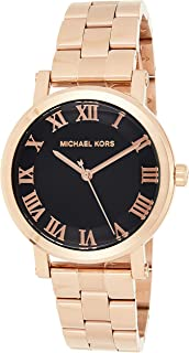 Michael Kors Womens Quartz Watch, Analog Display and Stainless Steel Strap MK3585