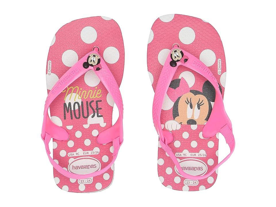 Havaianas Kids Baby Disney Classics Flip-Flop (Toddler) (White Rose) Girls Shoes
