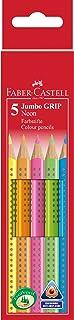 Faber-Castell 110994 - Lápices de colores (5 unidades, gruesos, agarre ergonómico), colores neón