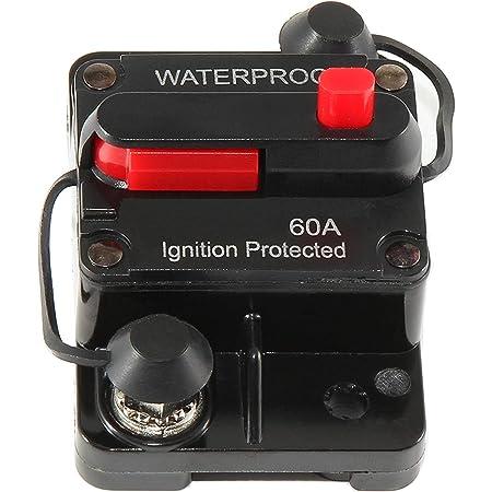 Red Wolf 60a 12 48v Sicherungshalter Reset Schalter Wasserdicht Kfz Leistungsschalter Für Auto Boot Audio Auto
