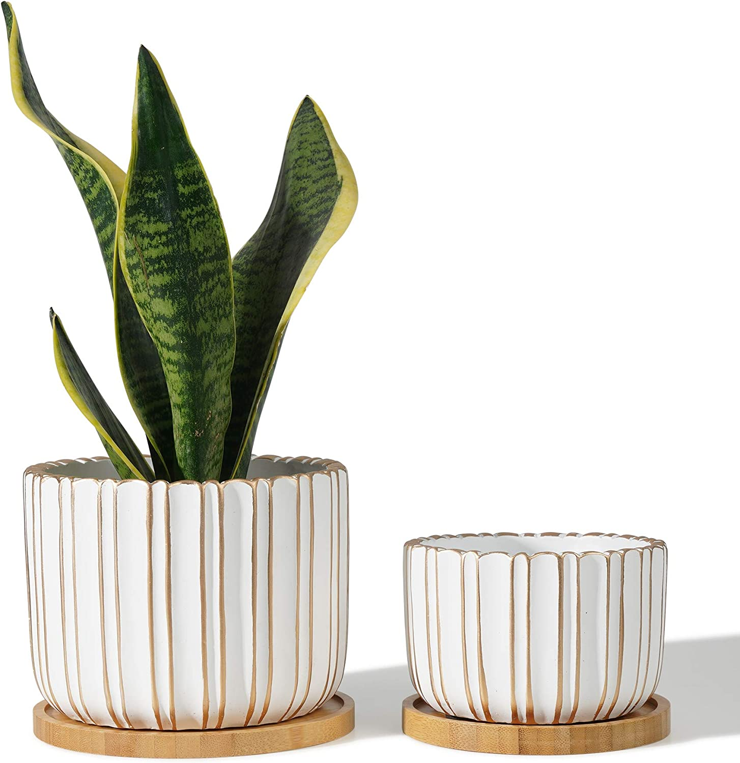 POTEY 057402 Cement Planter Pots - 4.7 Indoor Inventory cleanup selling sale Concret Credence 5.7 + Inch