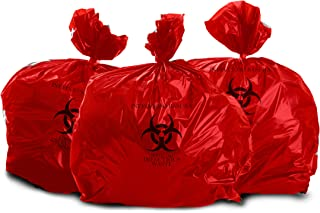 Oakridge Heavy Duty 25 Gallon Biohazard Waste Disposal Bags (Roll of 25) - Hospital Grade