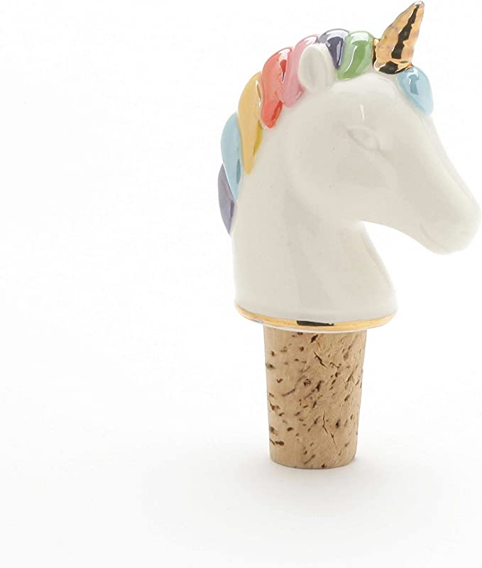 Enesco 6002238 Our Name Is Mud Magical Unicorn Bottle Wine Stopper 3 5 Inches Multicolor