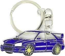 Impreza WRX Key Chain for car Accessories. Chrome Metal tag, Enamel. Replica. (Blue)