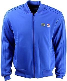adidas Mens Super Color Track Jacket Blue