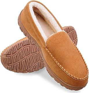 Sponsored Ad - shoeslocker Men Slippers Indoor Outdoor Anti-Slip Slippers for Men Warm Plush