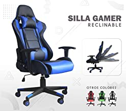 Silla Gamer Gaming Consola Pc Ergonomica Reclinable - Azul