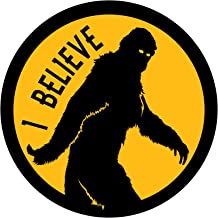 I Believe Bigfoot - 5 Inch Full Color Decal for Macbooks or Laptops - Proudly Made in The USA from Adhesive Vinyl
