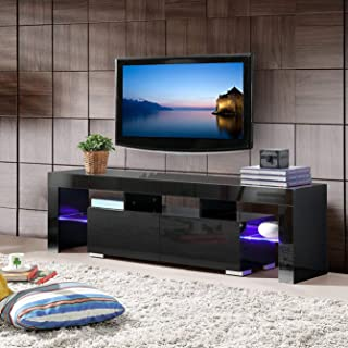 Best white gloss corner tv unit with led lights Reviews