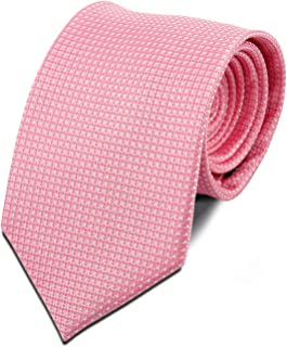 Bergamo Silk Necktie for Men - Pink Color Perfect for Weddings