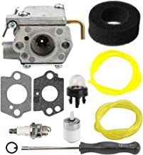 Hilom WT-827 Carburetor Air Fuel Filter Line Kit Rep 7843 753-05133 753-04333 for MTD Troy-Bilt TB10CS TB20CS TB20DC TB310QS TB320BV TB65SS TB70FH TB70SS TB90BC MS2550SE WH25CS WH80BC Gas Trimmer