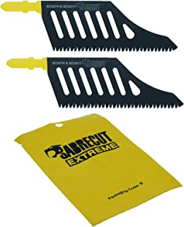 2 x SabreCut JSSC2074_2 T Shank HCS Wood Flush Cutting DT2074 Jigsaw Blades Compatible with Dewalt, Bosch and many others