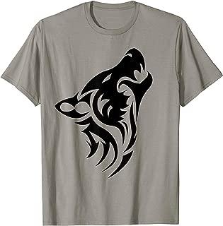 Wild Wolf T-Shirt -Retro Vintage Lone Black Wolf Shirt