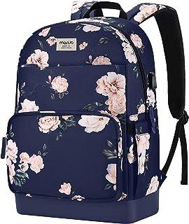 MOSISO Camellia Laptop Backpack for Women Girls