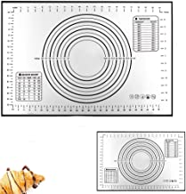 Silicone Pastry Baking Mat (40x60cm) & (26x29cm), Reayouth Non-Stick Reusable Rolling Pastry Mat with Measuring Guide for ...