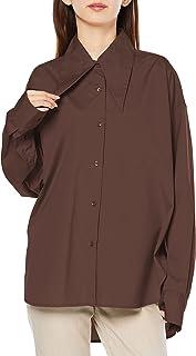 [フレイ アイディー] ロングポイントカラーシャツ FWFB214040 レディース