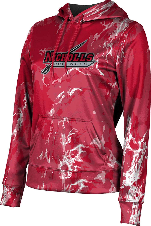 ProSphere Nicholls State University Girls' Pullover Hoodie, School Spirit Sweatshirt (Marble)