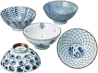 Saikai Pottery Traiditional Japanese Rice Bowls (5 bowls set) 31623 from Japan