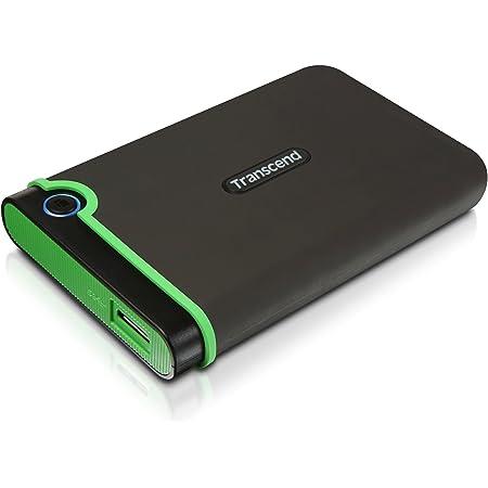 Transcend ポータブルHDD 2TB 耐衝撃 スリムタイプ USB3.1 Gen1 アイロングレー 3年保証 TS2TSJ25M3S
