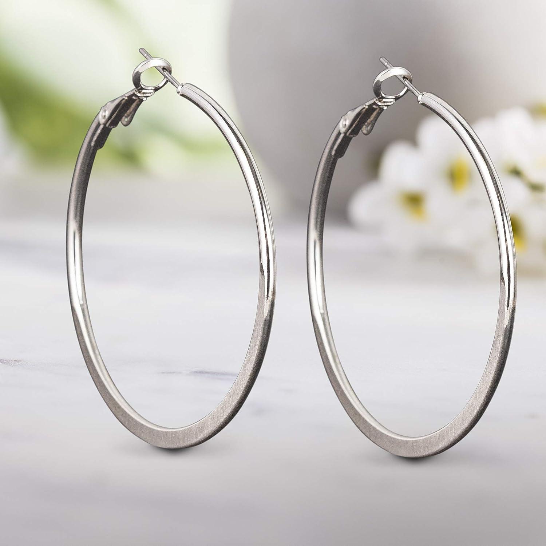 Steve Madden Flat Graduated Hoop Earring for Women