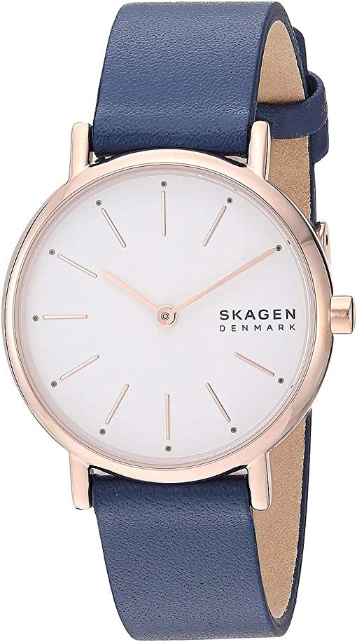 SKW2838 Rose Gold Blue Leather