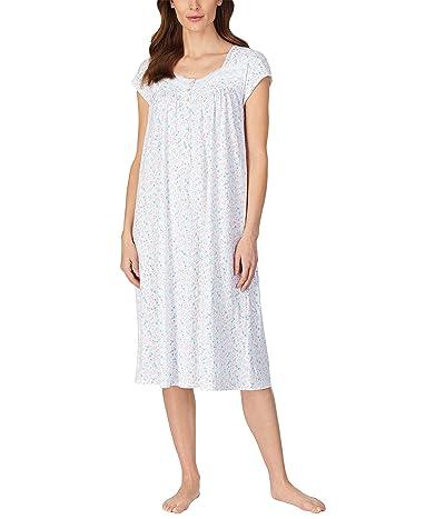 Eileen West Cap Sleeve Ballet Nightgown (Aqua Multi) Women