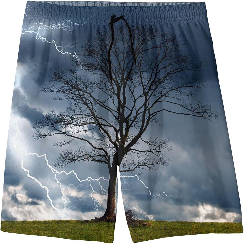 Lightning On A Dead Max 45% OFF Tree Beach Under blast sales Hawaiian Shorts Boys Youth