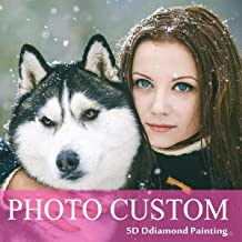 Custom Diamond Painting Kits Full Drill for Adults,Personalized Photo Customized Diamond Painting,Private Custom Your Own Picture (Round Drill, 11.7x11.7inch/30x30cm)