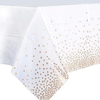 2Pcs Nappe à Pois Imperméable 137 * 274cm Plastique Un Peu Transparent Couverture Rectangulaire Couvre Linge de Table à Ma...