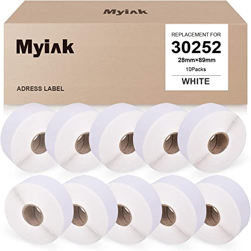 """discount MYIK Compatible Label Replacement for Dymo 30252 Use for discount White Address Labels Premium Self-Adhesive for LabelWriter 4XL 450 popular (1.1""""x3.5"""", 28mm x 89mm, 350 Labels/roll, 10 Pack) outlet sale"""